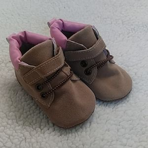 Infant Bootie with Laces and Velcro Straps